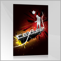 Celldweller - Wish Upon A Blackstar Mini Poster (w/ Silver Ink)