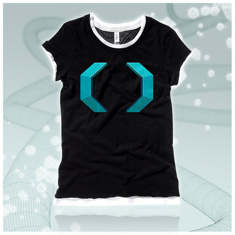 Celldweller - Cellblock Girls Black/White Sheer Jersey 2-in-1 T-Shirt