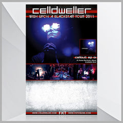 Celldweller - Wish Upon A Blackstar Tour 2011 Poster