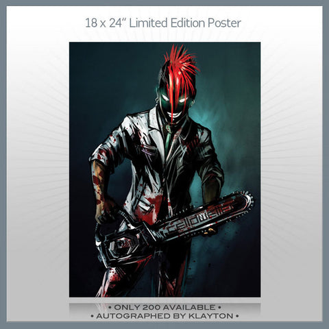Celldweller - Chainsaw 18x24 Autographed Poster