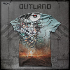 Outland - Floating Heart All-Over Print T-Shirt