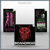 Scandroid - Pixels & Flesh Vinyl Sticker Pack
