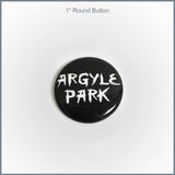 "Argyle Park - 1"" Round Button"