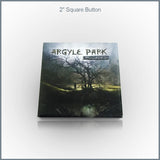 "Argyle Park - 2"" Square Button"