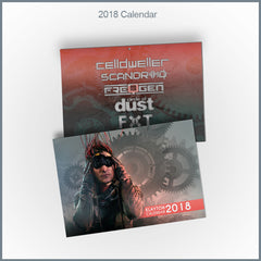 Klayton 2018 Calendar (Celldweller / Scandroid / Circle of Dust / FreqGen)