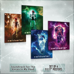 Celldweller - Soundtrack For The Voices In My Head - COMPLETE Poster Bundle
