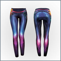 Scandroid - Oblivia Cut & Sew All-Over Print Leggings