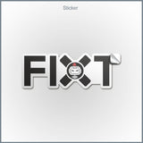 "FiXT Logo 2x5"" Sticker"