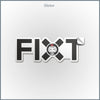 FiXT Logo Sticker