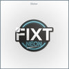 FiXT Neon Logo Sticker