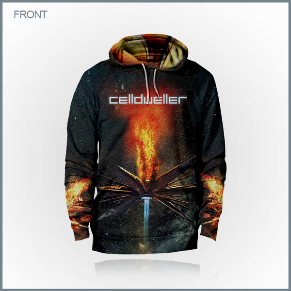 Celldweller - Wish Upon A Blackstar Cut & Sew All-Over Print Hoodie