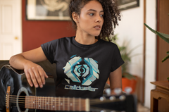 Celldweller - Gateway Women's Cut T-Shirt (Blue on Black)