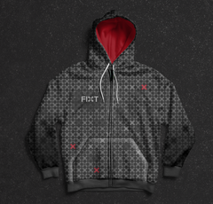 FiXT - Logo All-Over Print Zip-Up Hoodie
