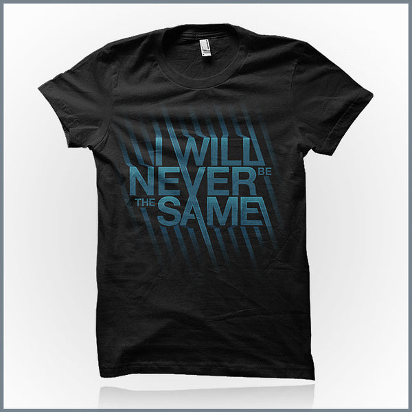 I Will Never Be The Same - Logo Shirt (Blue)