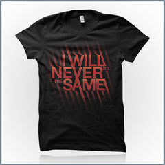 I Will Never Be The Same - Logo Shirt (Red)