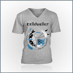 Celldweller - Time V-Neck (Heather Grey)