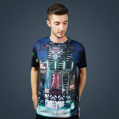 Scandroid - Neon City (2-Sided All-Over-Print) T-Shirt
