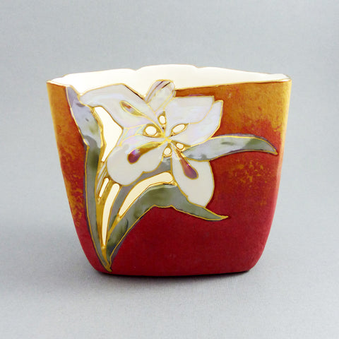 Short Square Vase (107) Red