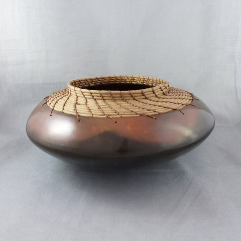 Coiled Pot, Burnished Earthenware (Black/Terra Cotta/Tan)