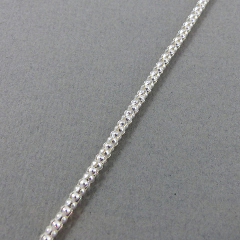 "SS Textured Chain, 24"" 3mm"