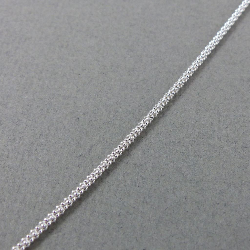 "SS Textured Chain, 24"" 2mm"