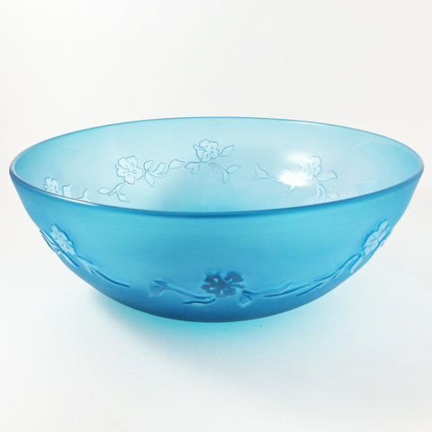 Large Hibiscus Bowl- Blue