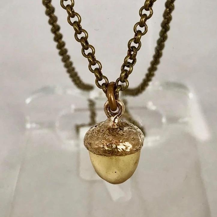 Acorn Necklace- Gold