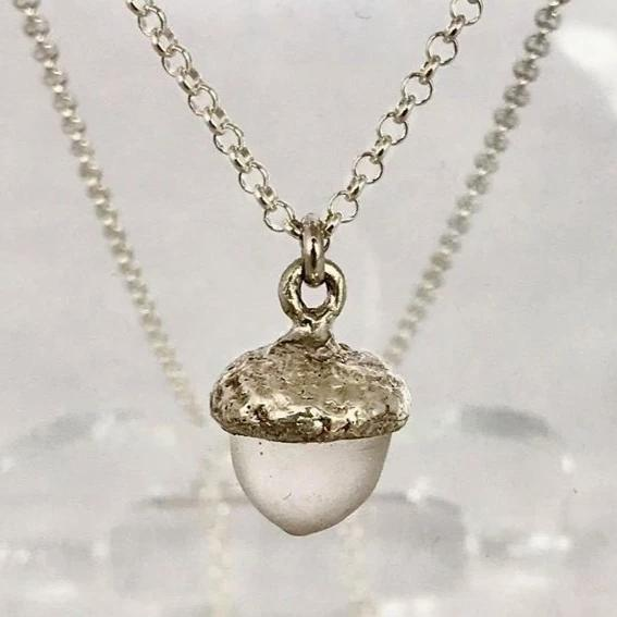 Acorn Necklace- Clear