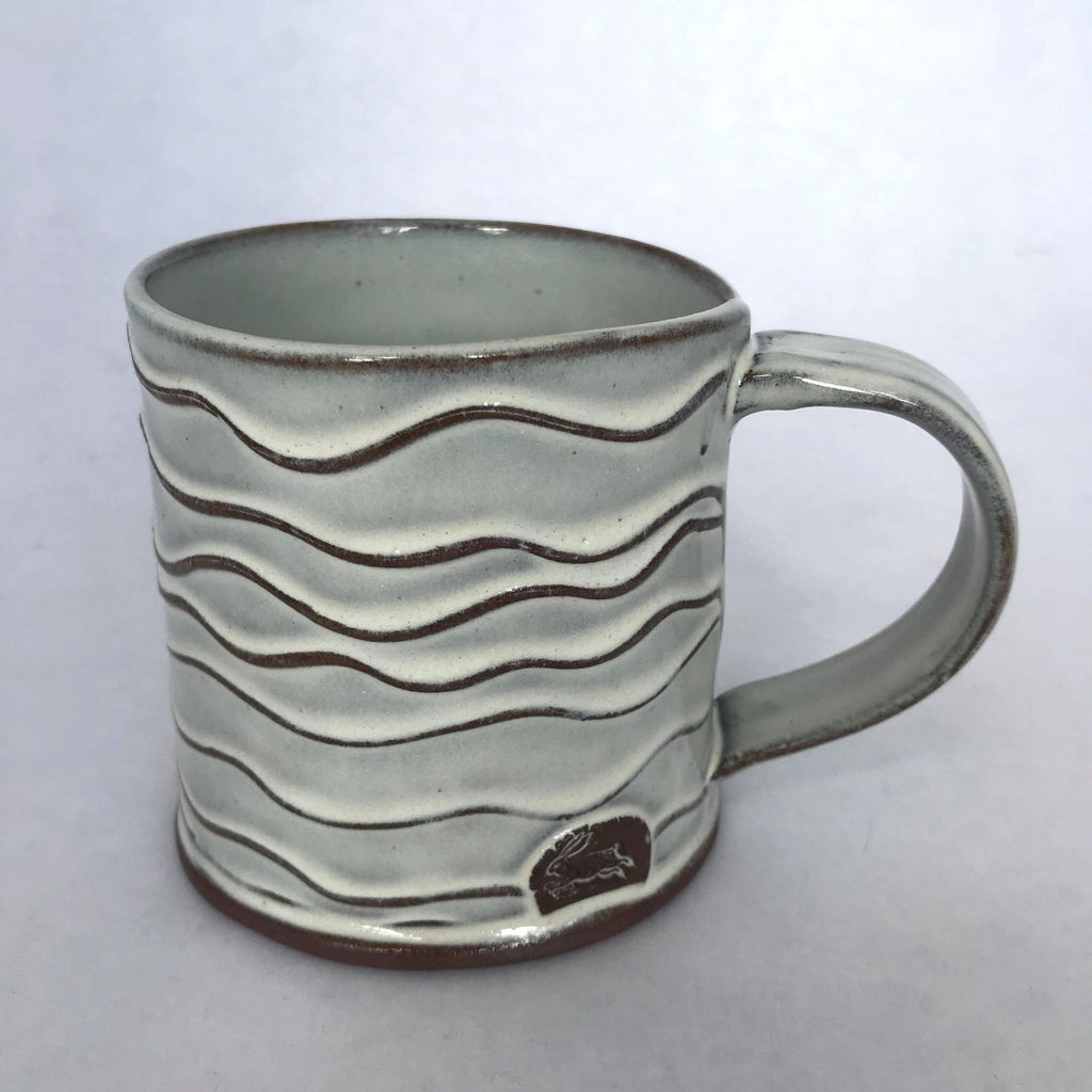 Wave Mug w/ Rabbit Motif