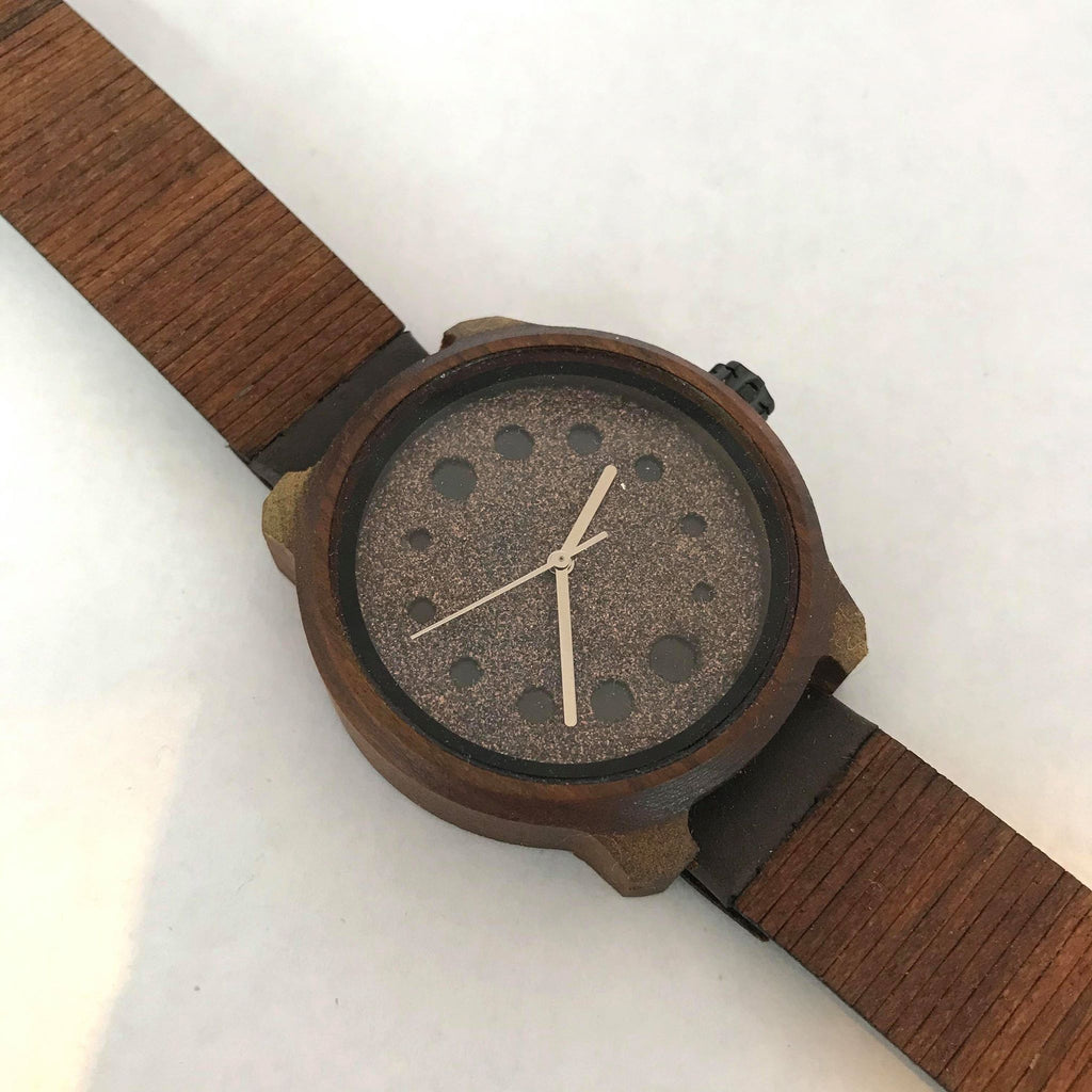 Dotted Watch w/ Wooden Band