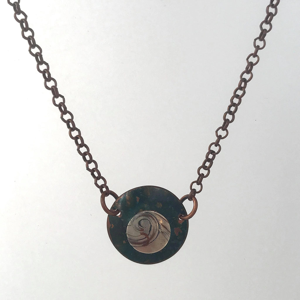Earth Collection: Dainty Circle Charm Necklace