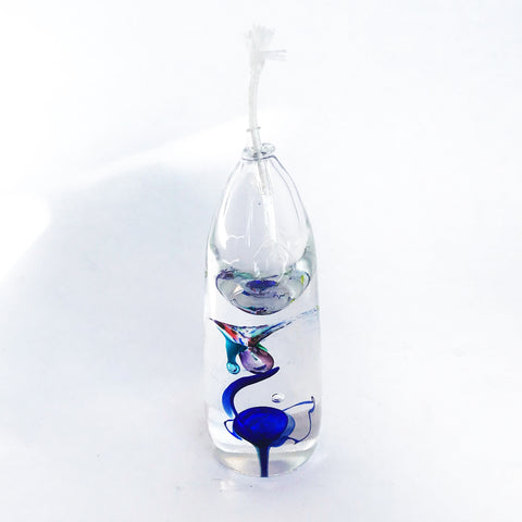 Oil Lamp- Short, Blue