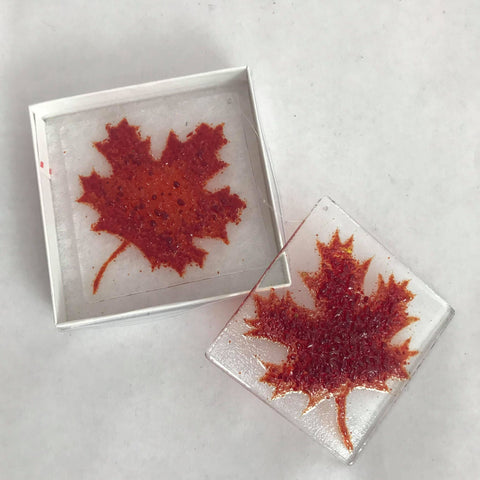 "Maple Leaf 3"" x 3"""