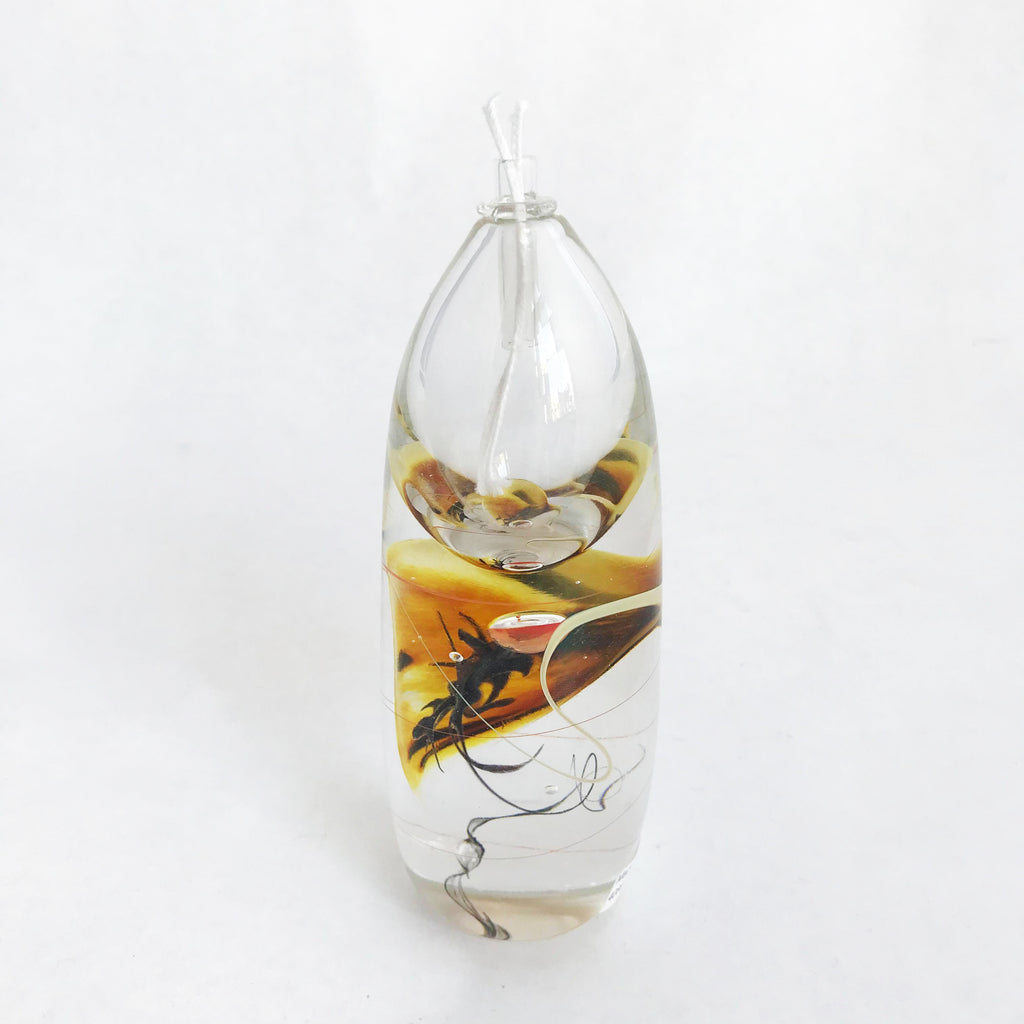 Oil Lamp- Short, Amber