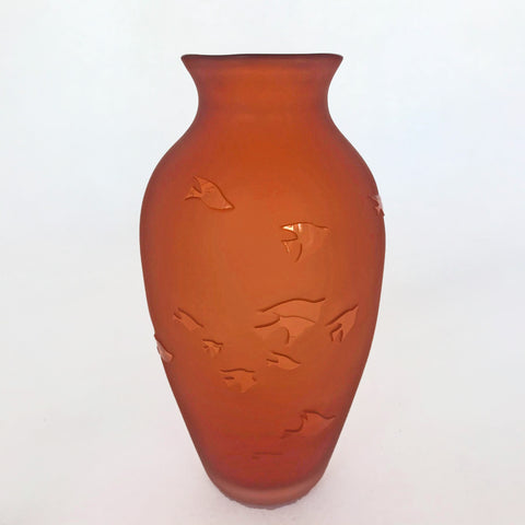 Bird Vase-Dark Peach