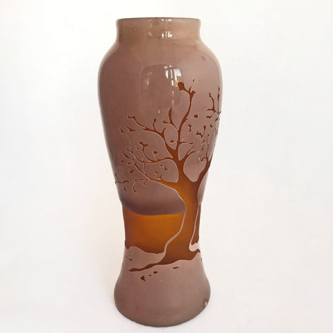 Etched Tree Vase
