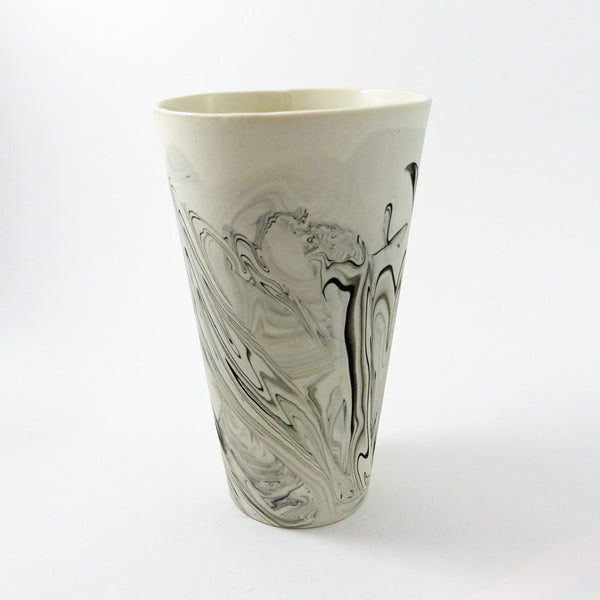 Tall Beer Drinking Glass Black Taupe Shop The Clay And