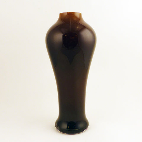 Tall Vase, Brown/White