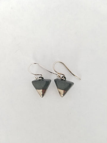 Earrings Ceramic with Sterling Silver