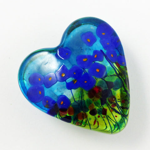 Blue Poppy Heart, Sm. CBLG