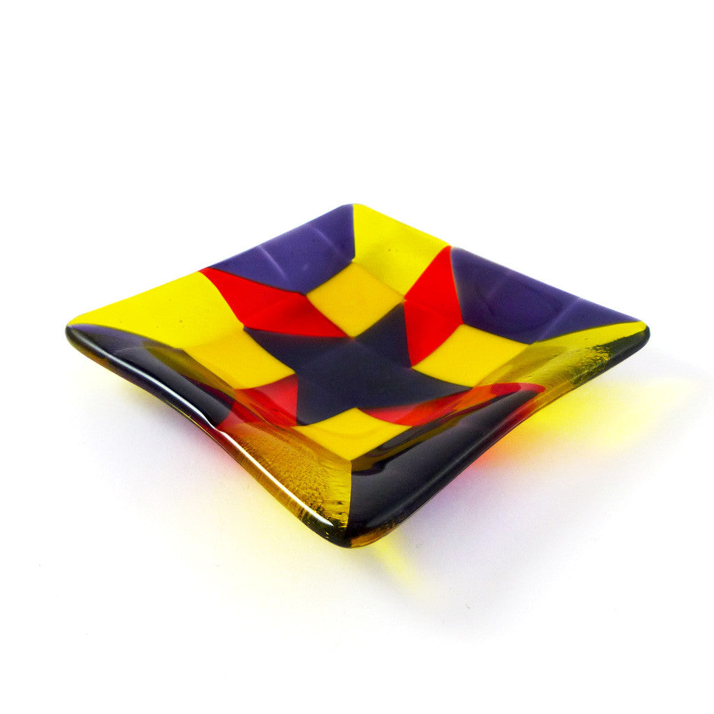 Quilted Glass Square Dish