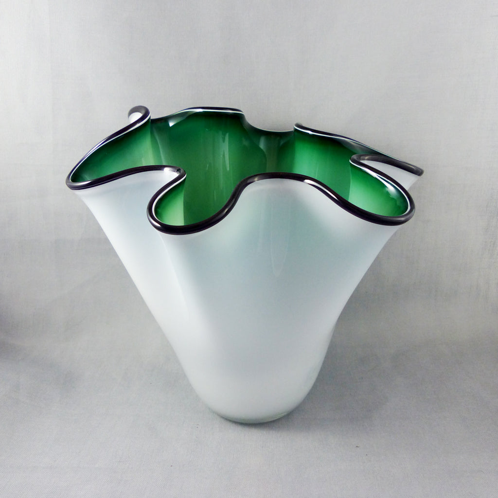 Bowl- Overlay White/Green