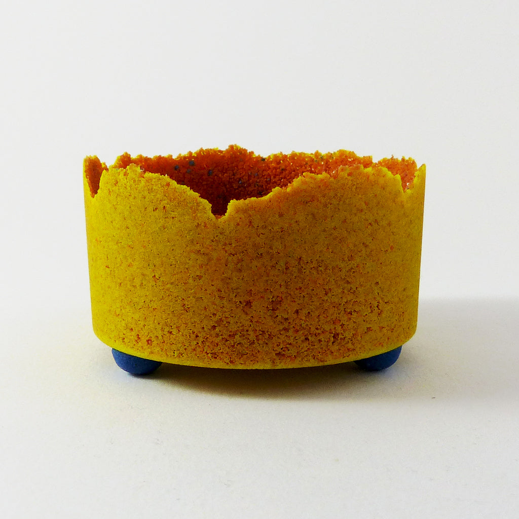 Straight Side Bowl, Pate de Verre (Peach/Yellow)