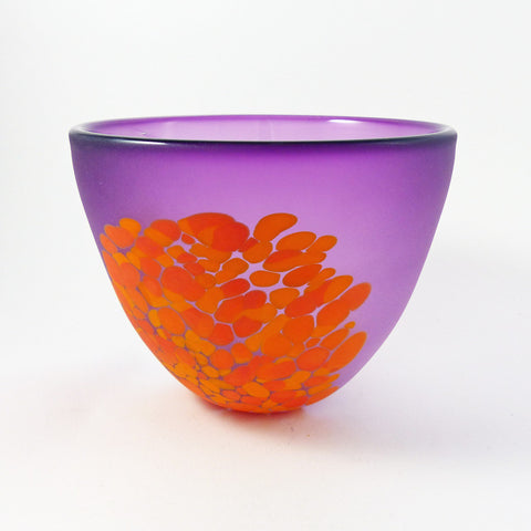 Frit Bowl (S), Purple/Orange