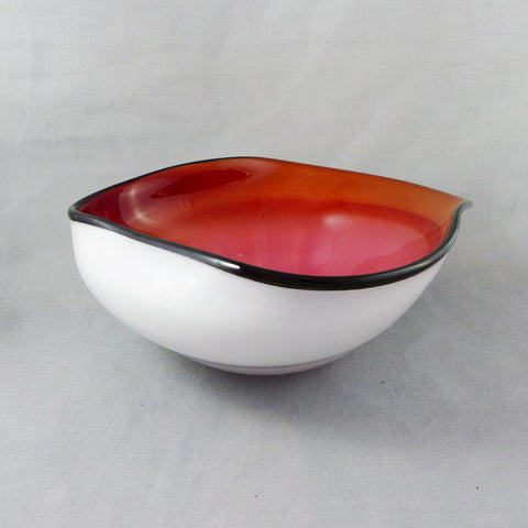 Bowl- Overlay White/Apr-Gold-Ruby
