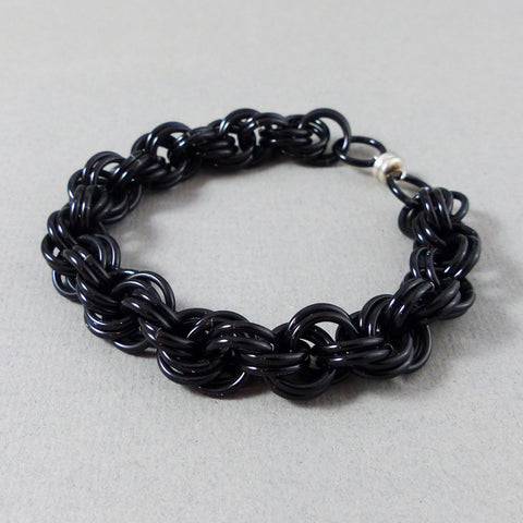 Bracelet #9 (L) Shiny Black