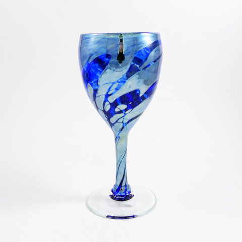 Wine Glass, JP Cobalt Metallic