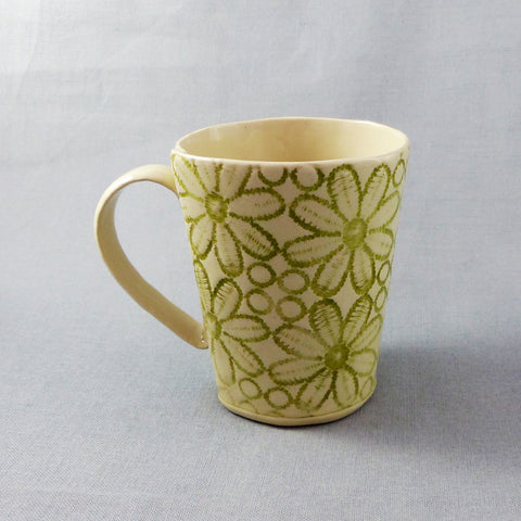 Daisy Lace Mug (Green)