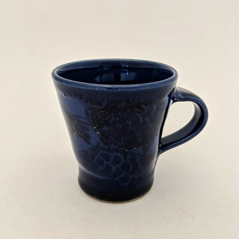 Mug with Fish Motif (Style 3) Dark Blue