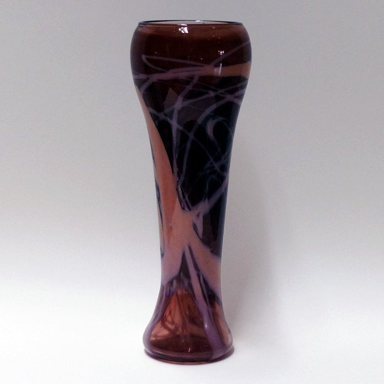 Trail Vase- Tea Brown and Ivory